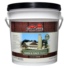 Brown - Premium One Coat 100% Acrylic Barn & Fence Paint - 1 Gallon
