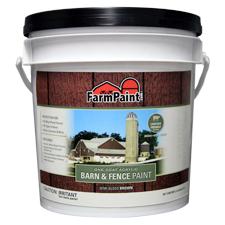 Brown Premium One Coat 100 Acrylic Barn Fence Paint 1 Gallon