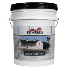 White - Premium One Coat 100% Acrylic Barn & Fence Paint - 5 Gallon