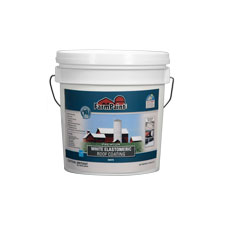 10-Year Premium White Elastomeric Roof Coating - 1 Gallon
